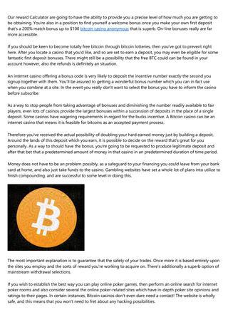 Que es al bitcoin casino